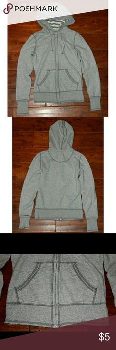 SO gray Zip Up Hoodie Pockets on front. Stripes inside hood. Mild pilling. SO Jackets & Coats Sweatshirts & Hoodies