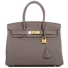 Hermes Birkin Etain Togo 30cm Gold Hardware Bag #hermes