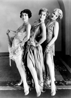 Dorothy Sebastian, Joan Crawford, and Anita Page in a promotional still for Our Dancing Daughters, 1928.