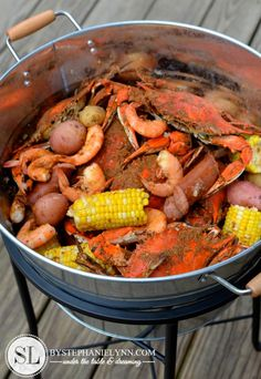Crab Feast Party Crab Feast Party Father 39 S Day Crab Boil With World Market Bystephanielynn I Love It Fish Recipes, Seafood Recipes, Cooking Recipes, Blue Crab Recipes, I Love Food, Good Food, Yummy Food, Seafood Boil Party, Cajun Seafood Boil