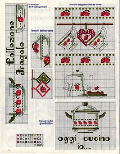 This is a miniature kitchen theme cross stitch chart / cross stitch pattern, but may also be used for: crochet, knitting motifs, knotting, loom beading, Perler beading, weaving and tapestry design, pixel art, micro macrame, friendship bracelets, and anything involving the use of a charted pattern.