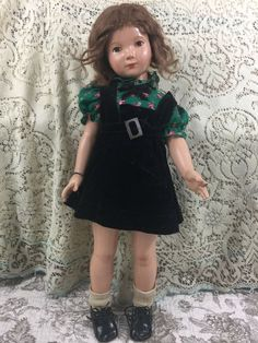 "Vintage 20"" Composition Doll Effanbee Wrist Tag Painted Eyes #Effanbee"