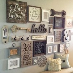 This Entry Way Gallery Wall Idea is perfect for any area in your home. Get your Gallery Wall Idea prints here. How To Create the perfect Gallery Wall. Vintage Market Days, Living Room Decor, Bedroom Decor, Bedroom Artwork, Bedroom Wallpaper, Decor Room, Diy Casa, Home And Deco, Home Projects