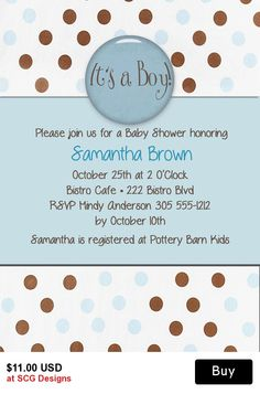 It's a Boy! Baby Shower Invitation-1 Sided