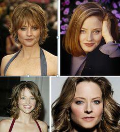 Four Hair Styles Oblong or Rectangular Face Shape
