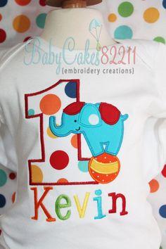 CIRCUS Birthday Shirt on Etsy, $23.00