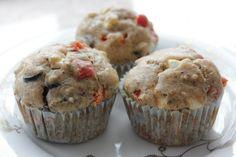 Muffinki z serem feta i czerwoną papryką | Moje Wypieki
