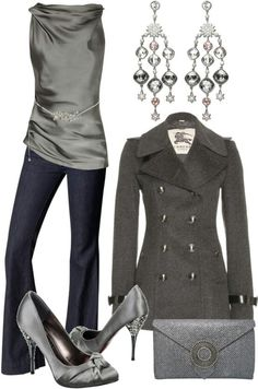 Grey outfit so fancy yet sexy I absolutely love this!! I want!!!!