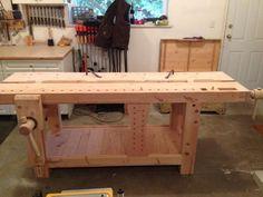 Craftsman Workbench, Woodworking Workbench, Woodworking Tools, Workbench Designs, Workbench Ideas, Game Workshop, Lake Erie, Entryway Tables, Workbenches