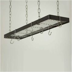 Rogar Rectangle Hanging Pot Rack with Grid