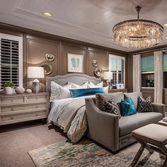 One of my all time favorite bedrooms! By Toll Brothers