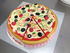 Is it a pizza or a cake .. ?? Well it is a pizza cake !!!