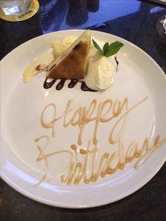 Birthday treat at Moxies Food Pics, Food Pictures, Birthday Treats, Birthday Cake, Tasty Dishes, I Love Food, I Foods, Desserts, Tailgate Desserts