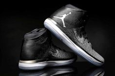 """Mike Conley officially signed Jordan Brand, also joined the ranks of the trapeze team. In the pre-season game against the Magic Grizzlies, he was on the foot of the latest sale of the Air Jordan XXXI """"Fine Print"""", black and white rendering of the simple, really refreshing and eye-catching! Follow my retail store: Cheapjordanshoesfreeshipping.com"""