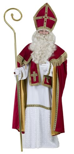 Sankt Nikolaus Luxus(Kleid/Schärpe/Hut/Umhang)