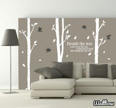 Beside The Birch Trees Wall Stickers