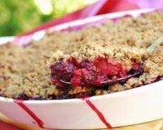 Crumble de fruits rouges light en croûte de quinoa : http://www.fourchette-et-bikini.fr/recettes/recettes-minceur/crumble-de-fruits-rouges-light-en-croute-de-quinoa.html
