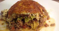 Eine Lasagne mit Wirsing, Hackfleisch, Büffelmozarella und Sauerrahm! Schmeckt göttlich! Wirklich!