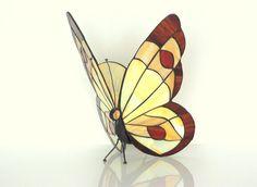 """12"""" Tiffany Style Butterfly schans Lamp. Gebrandschilderd glas muur Schans. Gebrandschilderd glas opknoping vlinder lamp. Muur schans licht. Tafellamp"""