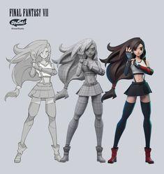 3d Model Character, Female Character Design, Character Modeling, Character Concept, Character Art, 3d Modeling, Final Fantasy Artwork, Final Fantasy Characters, Final Fantasy X