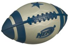 Nerf Sport NFL Weatherblitz XL Football - Cowboys by Hasbro. $16.00. Durable Dallas Cowboys team-themed pro-style football features WEATHER BLITZ technology for a water-resistant surface. Special technology gives this ball a water-resistant surface for extreme performance, grip and durability even in the toughest rain or sleet. So you can give it your A game all the time?just like your favorite Dallas players. Play your best game no matter what the weather?s li...