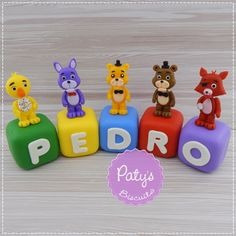 Cubos decorados Five Nights at Freddy's | Paty s Biscuit | Elo7