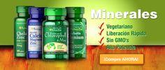 Oferta de minerales de origen vegetal, de liberación rápida, sin GMO y de alta potencia.  Chequea y compra en: http://es.puritan.com/search?scid=29135