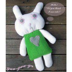 child comforter soft bunny toy for baby toddler  FREE von GuuGuuGa, $40.00