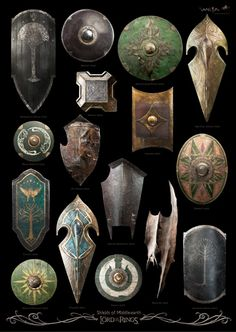 The shields of Middle-Earth.