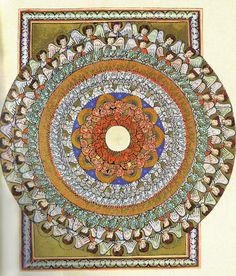 Vision of the angelic hierarchy, Hildegard von Bingen, XIIth century