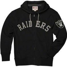 Oakland Raiders NFL Gametime Scrimmage Full Zip Sweatshirt (Black) Oakland  Raiders Shirts 9f87bbcb8