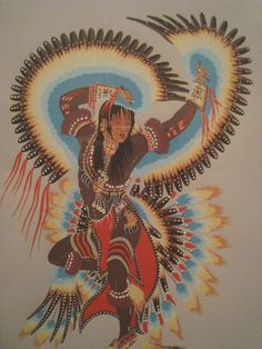"""Woody Crumbo (Potawatomi) ..Woodrow """"Woody"""" Crumbo (January 21, 1912 – April 4, 1989) was an American Indian artist, flute player, dancer , prospector and humanitarian."""
