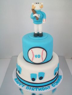 UNC Baseball Birthday Cake