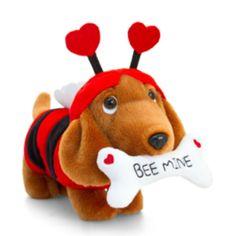 """Bee mine""  Édes tacskó plüss :) Minion, Bones, Dinosaur Stuffed Animal, Valentines Day, Christmas Ornaments, Holiday Decor, Sausage, Toy, Animals"