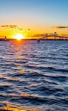 The Claiborne-Pell Bridge is an icon of Newport, Rhode Island
