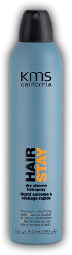 KMS California Hairstay Dry Xtreme Hairspray 8.9 oz / 300 ml hair stay #KMS