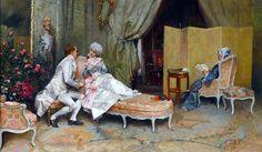 La conversation by Raimundo de Madrazo y Garreta (1841-1920)