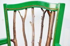 The Trash to Treasure Statement Chair Tutorial is Incredibly Creative #DIY #home trendhunter.com