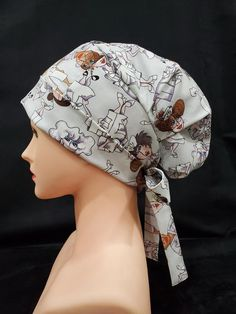 Bonnet Cap, Surgical Caps, Scrub Caps, Felt Crafts Diy, Put On, Scrubs, Winter Hats, Fitness, Nurses