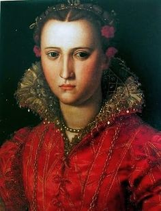 Painting Associated with the Artist or the Worshop of Alessandro Allori (Italian Mannerist Painter, 1535-1607) Portrait of a Woman c 1557