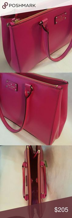 Kate Spade Designer Handbag Authentic Kate Spade *Wellesley Martine * Brand New and Gorgeous Handbag * Color : Sweatshirt Pink * Amazing room with Double Zippers on front and back * Can adjust to use smaller amount of room in the middle or adjust as needed for more room *Stylish & Elegant* kate spade Bags