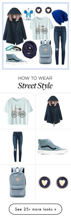 """""""Street style"""" by sonyazuzina on Polyvore featuring Frame Denim, Vans, Herschel Supply Co., Spacecraft, BP., PhunkeeTree and Brooks Brothers"""