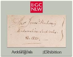 Llyfrgell Genedlaethol Cymru - Arddangosfa Thomas Jones Pencerrig Exhibition - National Library of Wales Thomas Jones, Cymru, Wales, Welsh