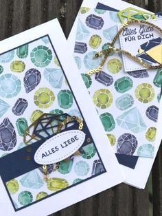 Geburtstagskarte, Birthday Card, In Color, Smaragdgrün, Emerald Envy Marineblau, Night of Navy, DIamant, Diamond, Bunte Vielfalt, Bunt Gemischt, Geschenkband, Double Layer, Stampin Up, SU, Bastelbazzzille, eclectic layers thinlits, Saumband in Knitteroptik, Pfirsich Pur, Peach, DSP, Designerpapier, Designer Series Paper