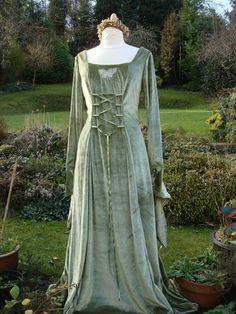 Arwen Coronation Gown Fairy Lotr Reniance Meval Wedding Handfasting Dress