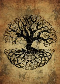 Tree Of Life Art, Celtic Tree Of Life, Tree Of Life Symbol, Rune Tattoo, Norse Tattoo, Celtic Tree Tattoos, Tree Of Life Tattoos, Nordic Runes, Nordic Symbols