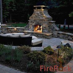 FireRock Outdoor Stone Fireplace