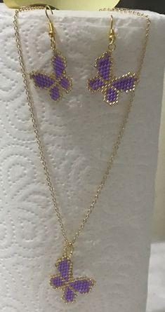 Brick Stitch Earrings, Bead Earrings, Beaded Necklace, Beading Projects, Beading Tutorials, Bead Jewellery, Diy Jewelry, Beaded Jewelry Patterns, Peyote Patterns