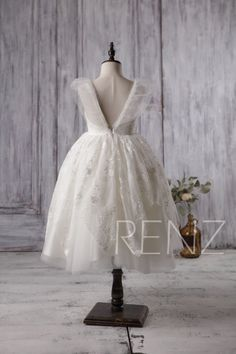 2017 Off White Junior Bridesmaid Dress ba0685f62500