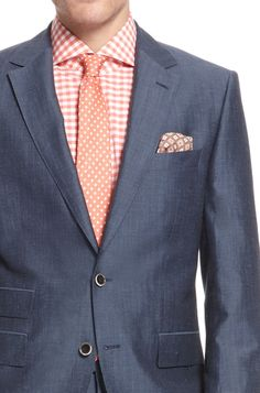 Orange & Gray: Do this only if you're going to a trendy summer hipster wedding, thanks.